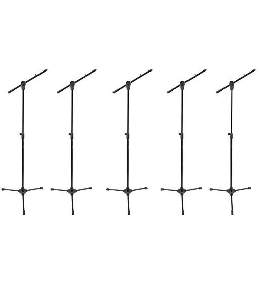 Kit 5 Pedestal Para Microfone Rmv Psu 142 + Nf