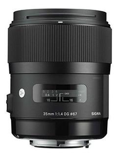 Lente Sigma Mm F1.4 Dg Hsm Para Nikon (negro) - Versión Inte