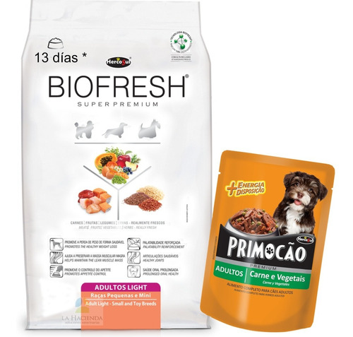 Biofresh Light Raza Pequeña 1 Kg Con Pouch Premium 100 Grs