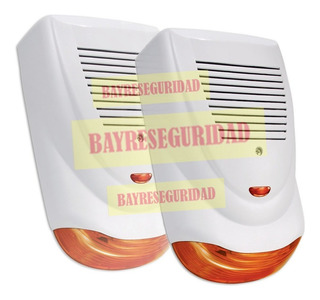 Sirena Exterior Cableada Accesorio Alarmas Antivandalica Led