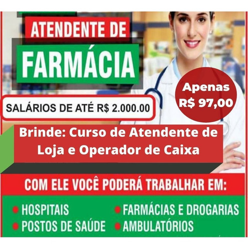 Atende De Farmácia E Ganhar Dois De Brinde Vem Com Certific