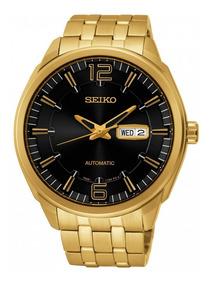 Relógio Seiko Automático Masculino Dourado Snkn48b1 P2kx