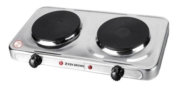 Anafe Electrico Ken Brown 2 Hornallas Acero Inoxidable 2500w