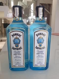Kit 2 Gin Bombay Sapphire Dry London 750ml Original!