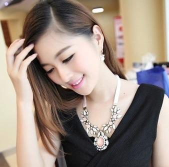 Collar Maxi Grande Elegante Con Cristales Nuevo Importado