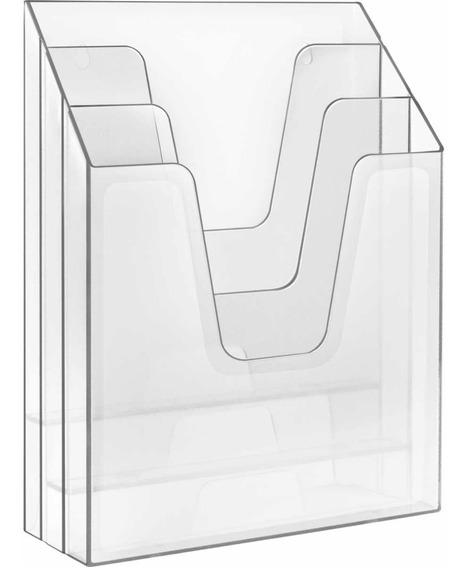 Organizador Expositor Triplo Vertical Acrimet Cristal