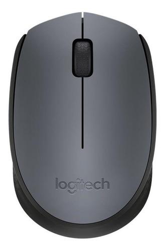 Mouse Logitech M170 Preto E Cinza Sem Fio Pronta Entrega