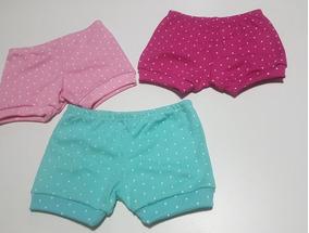 Shorts Tapa Fralda Bebês Kit 5 Peças P, M, G, Gg!