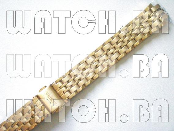 Pulseira Dourada Orient Fgss1039 - Nova, Original!