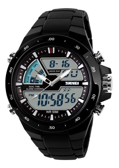 Relógio Masculino Skmei 1016 Anadigi Dual Time Prova D