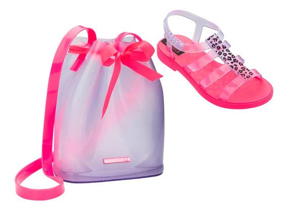Sandália Larissa Manoela Trend Bag Infantil Rosa - 22021