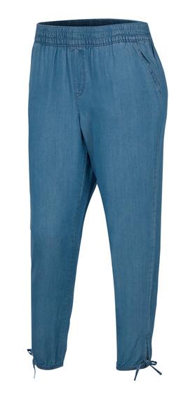 Pants Ripzone Playa Hight Tid Mujer Azul