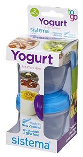 Sistema To Go Collection Yogurt Container 5 Oz148 Ml Los Col