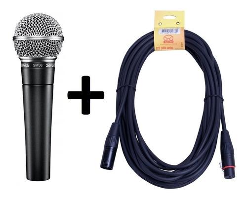 Microfono Shure Sm 58 Lc + Cable 5 Mt Garantia / Abregoaudio