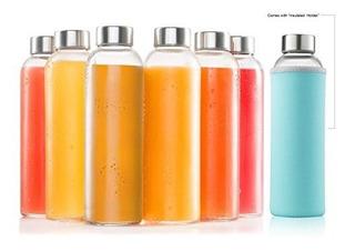 Sagler 4398 Botellas De Vidrio 6 Pack 18oz 18 Oz Clear