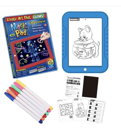 Tablero De Dibujo Con Luz Led Magic Pad Y 6marcadores Tablet