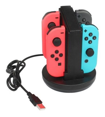 Cargador Para Nintendo Switch Joy Con Controles Base Cargado
