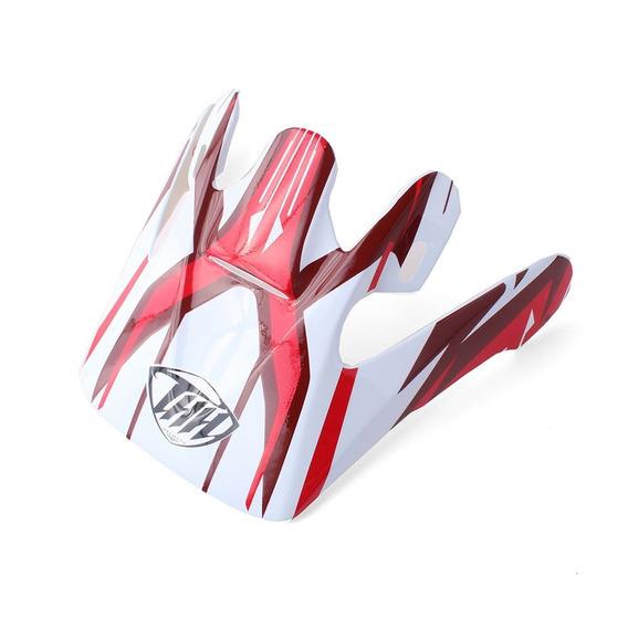 Pala Para Capacete Thh Tx-10 #3 - Branco/vermelho