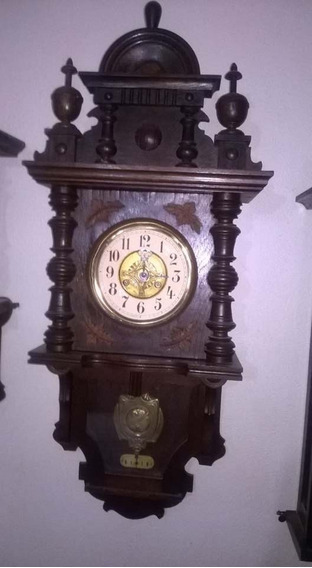 Antiguo Reloj De Pared Marca Junghans