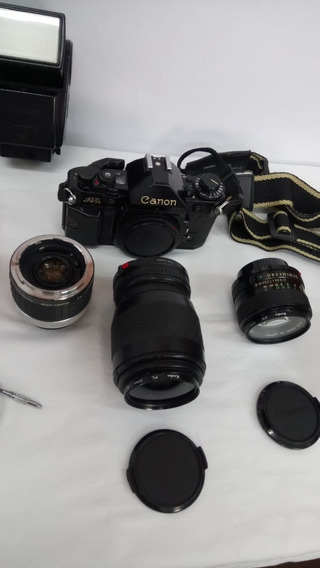 Kit Câmera Analógica Canon A1. + Kit Câmera Analógica Zennit
