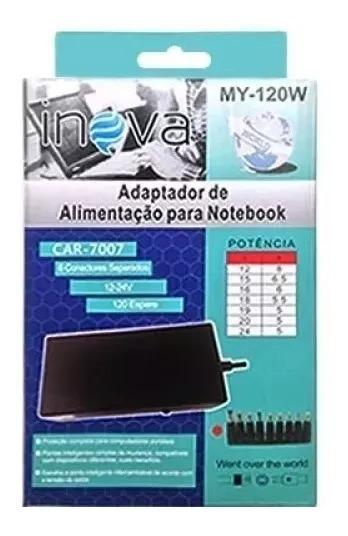 Carregador Notebook Universal Car-7007 My-120w - Jl-45