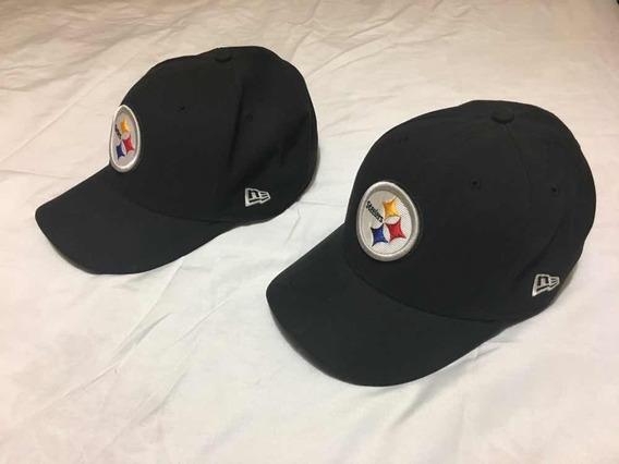 Lote De 2 Gorras Steelers New Era 5950 Talla 7 1/2