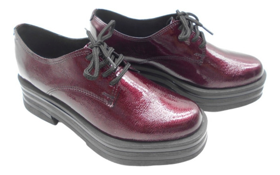 Zapato Acordonado Ecocuero Savage Plataforma Zr50 Mocasin