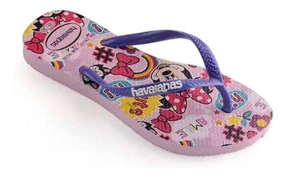Chinelo Infantil Havaianas Slim Disney Minnie Rosa 010375