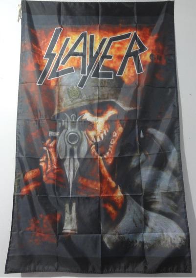 Bandeira Slayer - Repentless, Reign In Blood, Await - 90x150