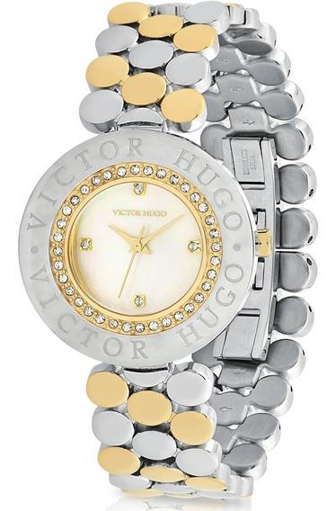 Relógio Victor Hugo Luxo Feminino - Vh10135lssg/28m