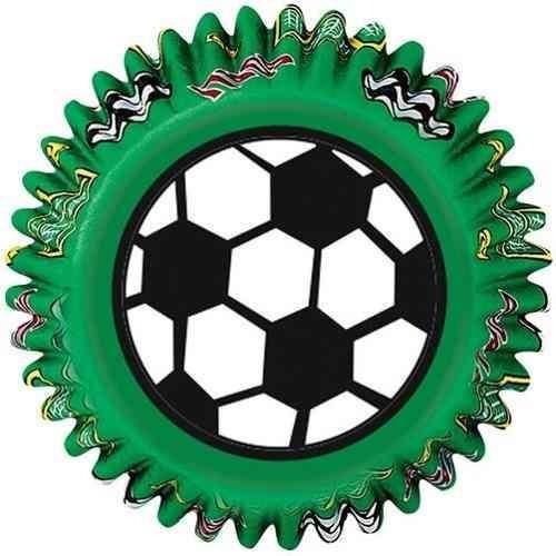 Capacillos D/papel Decorado Soccer 50 Pzas, 5 Cm