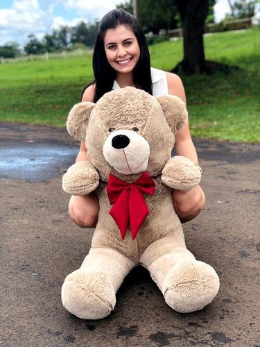Imagem 1 de 4 de Urso Gigante Pelúcia Grande Teddy 1,10 Metros