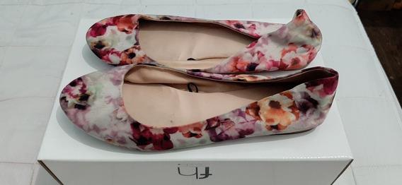 Alpargatas Zapatillas De Mujer H&m Estampadas Flores Usado