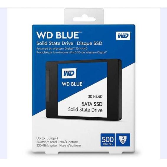 Ssd Wd Blue Sata 500gb 3d Nand