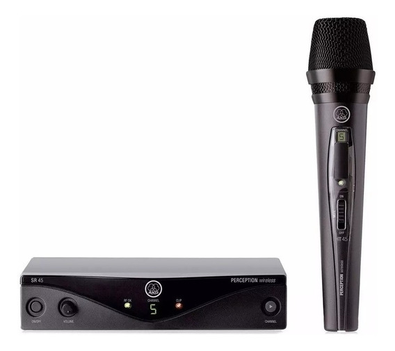 Microfone Profissional Vocal Sem Fio Akg Pw Vset A 45 + Nf
