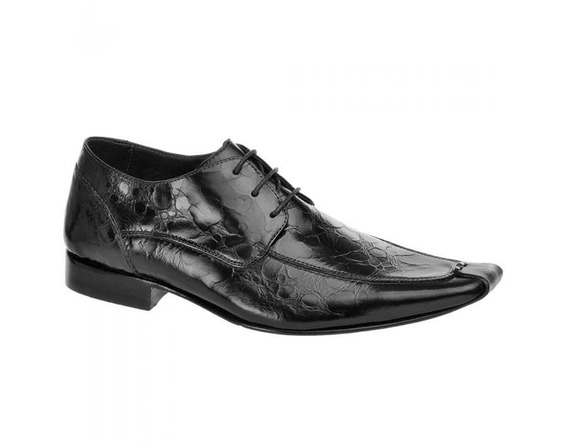 Sapato Social Masculino Couro Preto 466005 - Frete Grátis