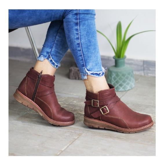 Botines Cuero Dama, Zapatos Cuero Maribu Shoes - Mod #756