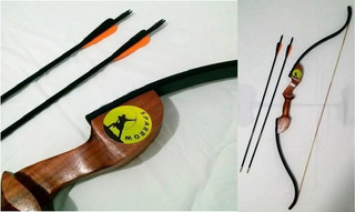 Kit Arco Recurvo 120cm E Flechas 25lbs