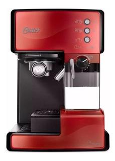 Cafetera Oster PrimaLatte BVSTEM6601 Roja 220V