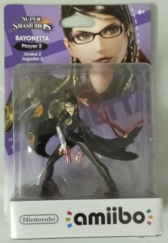 Amiibo. Bayonetta Player 2. Super Smash Bros. Versión Usa