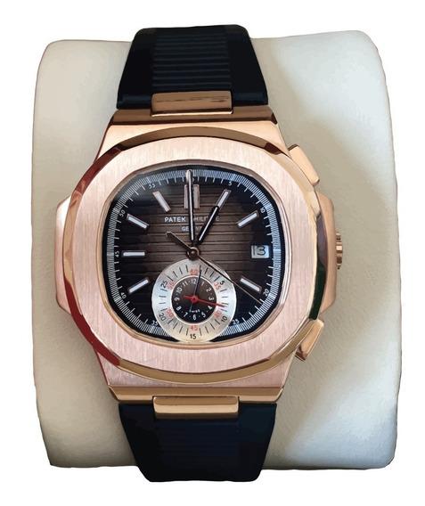 Reloj Patek Philippe Para Hombre Automatico Caucho Con Caja
