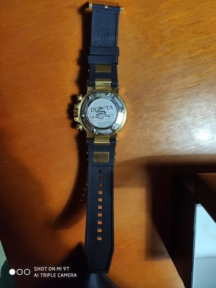 Relógio Invicta Subaqua Noma Iii 18526 Dourado Pulseira Pret
