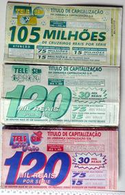 3 Telesenas Antigas - 1 De 1994 - 2 De 1995 Para Coleção Lt3