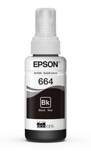 Tinta Botella Epson T664 Negro 70ml Originales - Walsystem