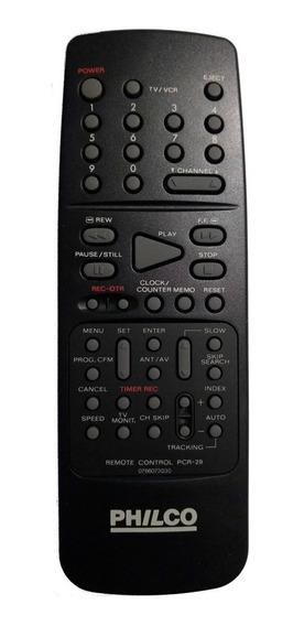 Cr-0082 Controle Remoto P/ Video K7 Pcr29 Philco