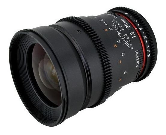 Lente Rokinon 35mm T1.5 Cine As Para Canon Ef Melhor Preço