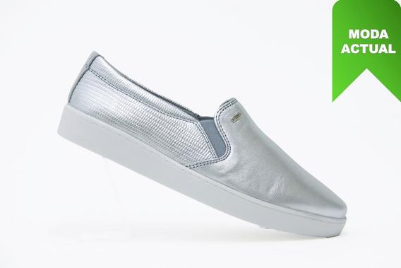 Flexi Dama Zapatos Comodo 33506 Plata 100% Originales!!
