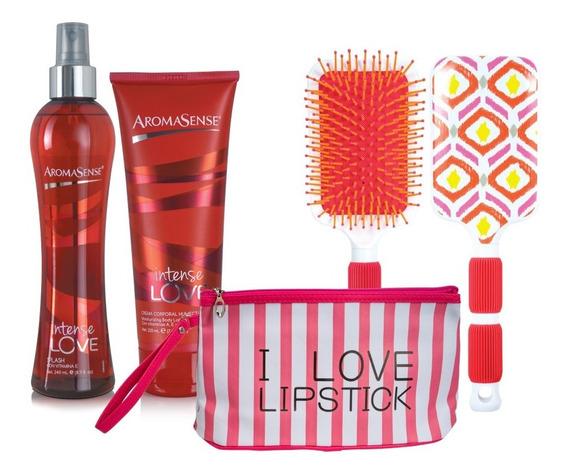 Splash Y Crema Aromasense+ Cosmetiquera+ Cepillo Shock