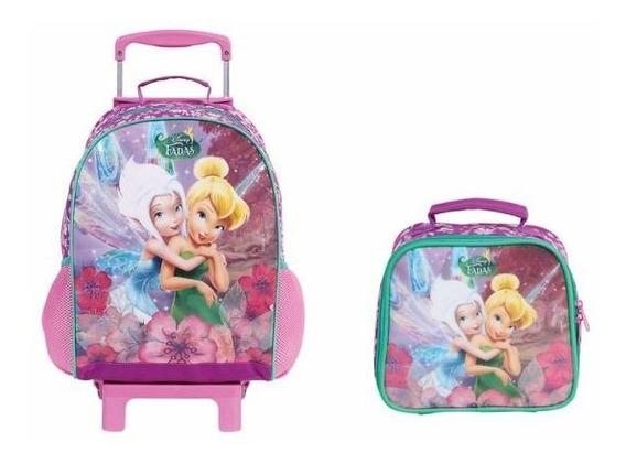 Kit Tinker Bell Disney Mochilete E Lancheira - Dermiwil 3707