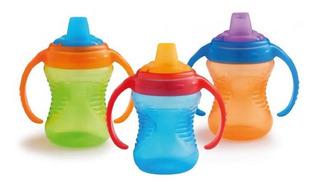 Vaso Para Bebes Entrenador Pico Silicona +6m Muchkin Asas